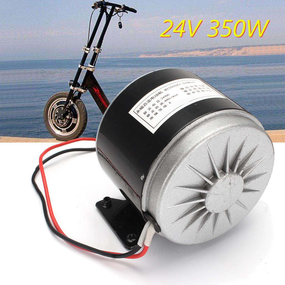 24V DC 350W Elektrische Roller Motor Conversion Kit MY1016 Gebürstet Motor Set Für Elektrische Fahrrad ZY1016 Elektrische motor