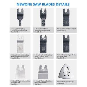 Image 4 - NEWONE набор быстроразъемных пильных лезвий, Осциллирующий набор многофункциональных инструментов Fein Dremel Multi Max, как резак из дерева и металла