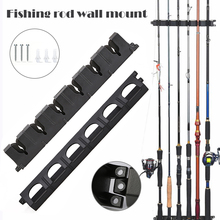 1 Pair Vertical 6-Rod Rack Fishing Rod Holder Wall Mount Fishing Pole Display Stand ALS88 booms fishing wv1 vertical 6 rod rack fishing pole holder wall mount modular for garage
