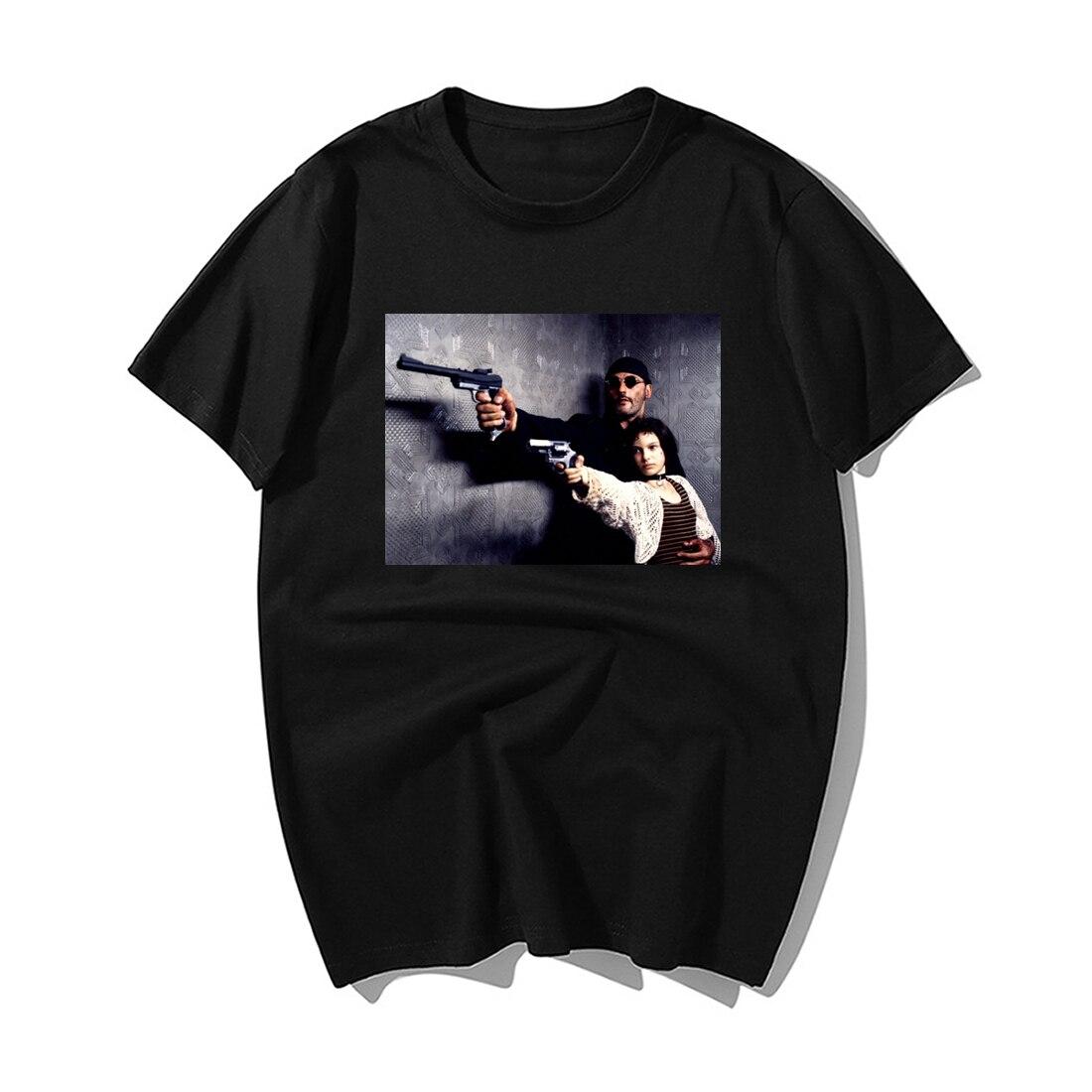 Classic Movie Leon The Professional Print T Shirt Fashion Men Summer 100% Cotton Short Sleeve Tshirt Funny Men'S Tv Tshirts