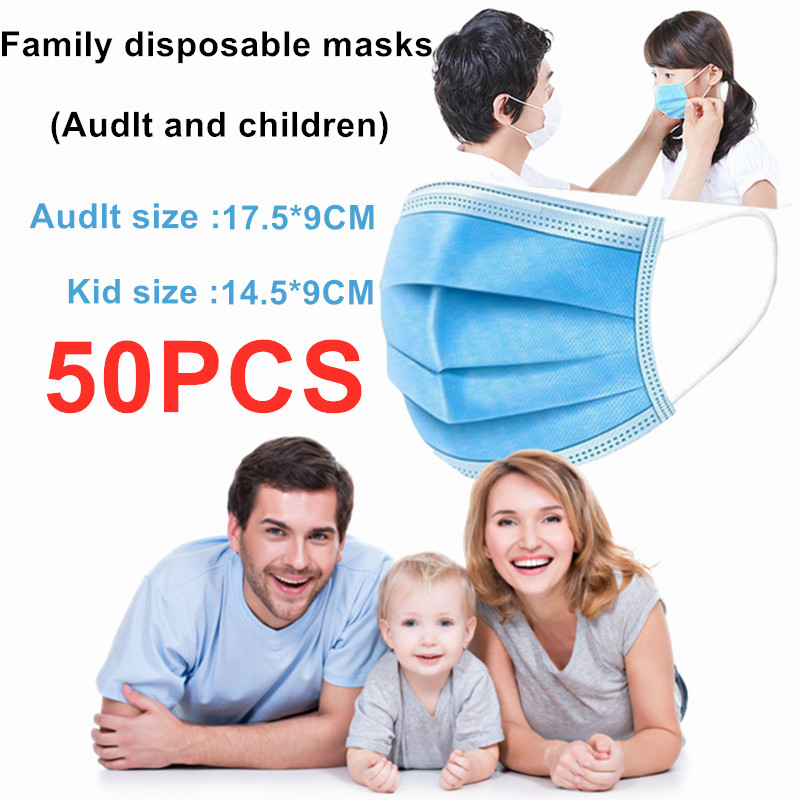 In Stock 3 Layer Adult Disposable Kids Mask Coronavirus Anti Virus Corona Protection Musk Face Mask Children Antivirus Masks