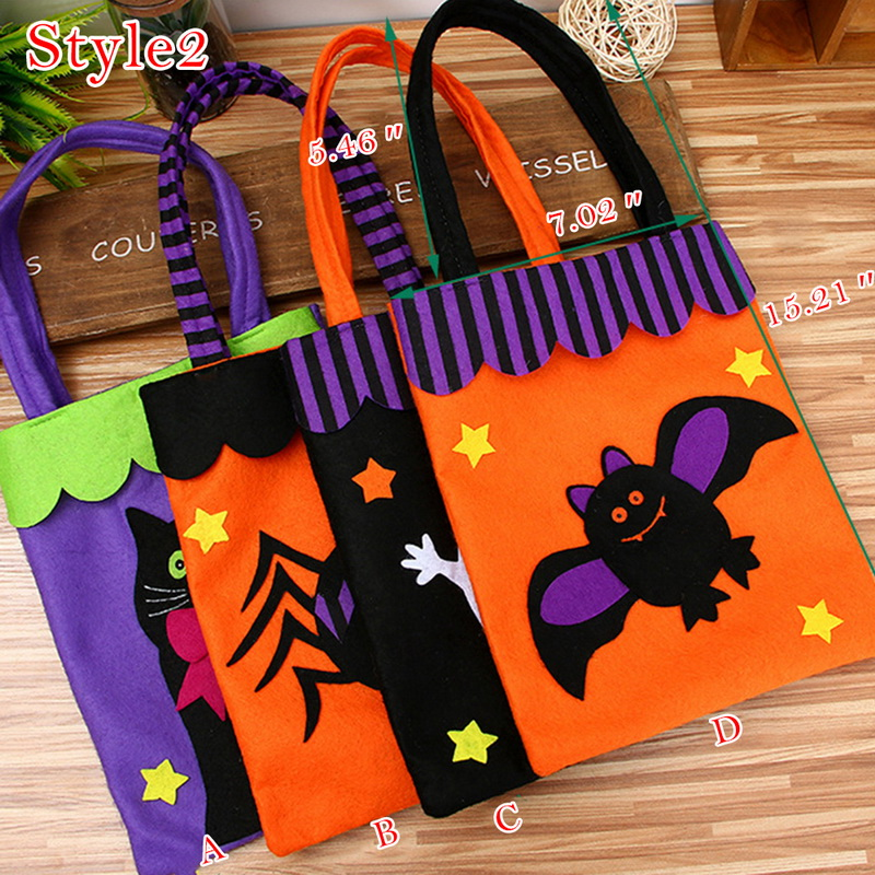 Halloween Decoration Props Supplies Halloween Brushed Cloth Candy Bag Drawstring Bag Thank You Gift Birthday Party Favor Bags