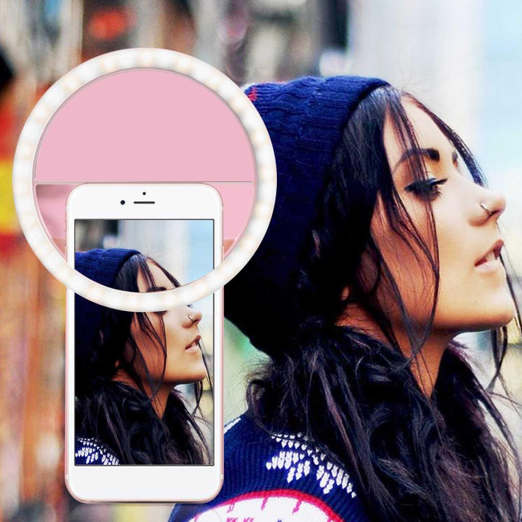 Selfie universel LED anneau Flash lumière Portable téléphone Portable 36 LED S Selfie lampe anneau lumineux pince pour iPhone pour Samsung