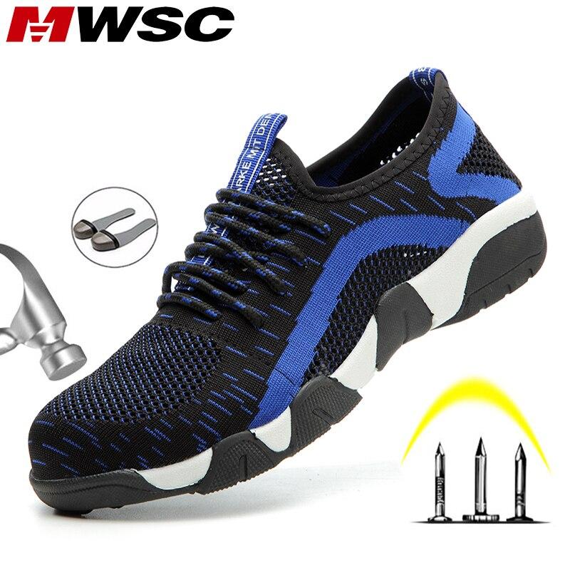 MWSC/2020; Мужская Рабочая обувь; светильник со стальным носком; рабочие ботинки; небьющиеся ботинки; мужские безопасные рабочие кроссовки