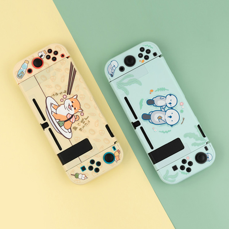 Sea Otter Protective Shell For Nintendo Switch Hard Cover Back Grip Shell NS Lite Housing Case For Nintendo Switch Accessories