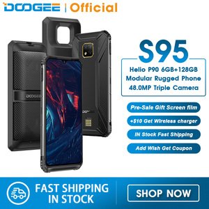 DOOGEE S95 IP68 Modular Rugged Mobile Phone 6.3inch Display Helio P90 Octa Core 6GB 128GB 48MP Triple Camera Android 9.0 5150mAh(China)