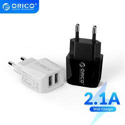ORICO 5V 2.1A USB Charger 2 Port Travel Charger for iPhone iPad Samsung Xiaomi Huawei EU Plug Mobile Phone Charger