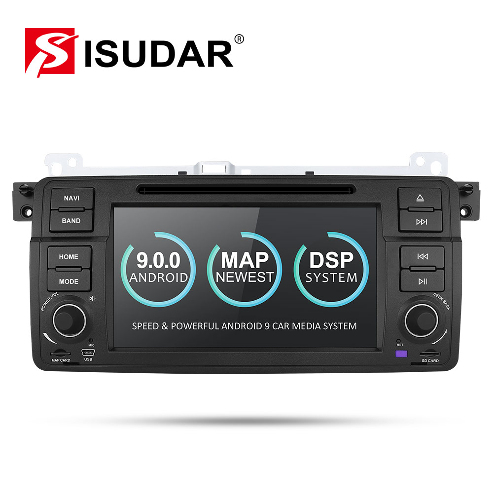 Isudar 2 Din Auto Radio Android 9 Für <font><b>BMW</b></font>/<font><b>E46</b></font>/M3/MG/ZT/Rover 75/ 320/318/325 auto Multimedia Video DVD Player GPS Navigation DVR image