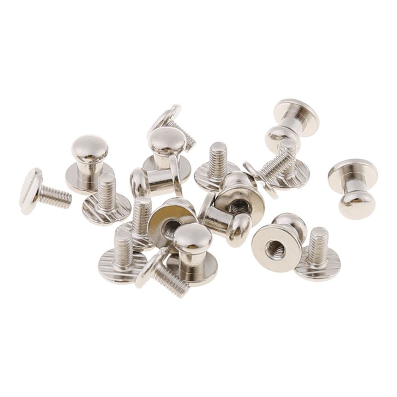 High Quality 10 Pcs Stud Screw Round Head DIY Leather Wallet Bag Rivet Pacifier Handmade Craft Bag Accessories New