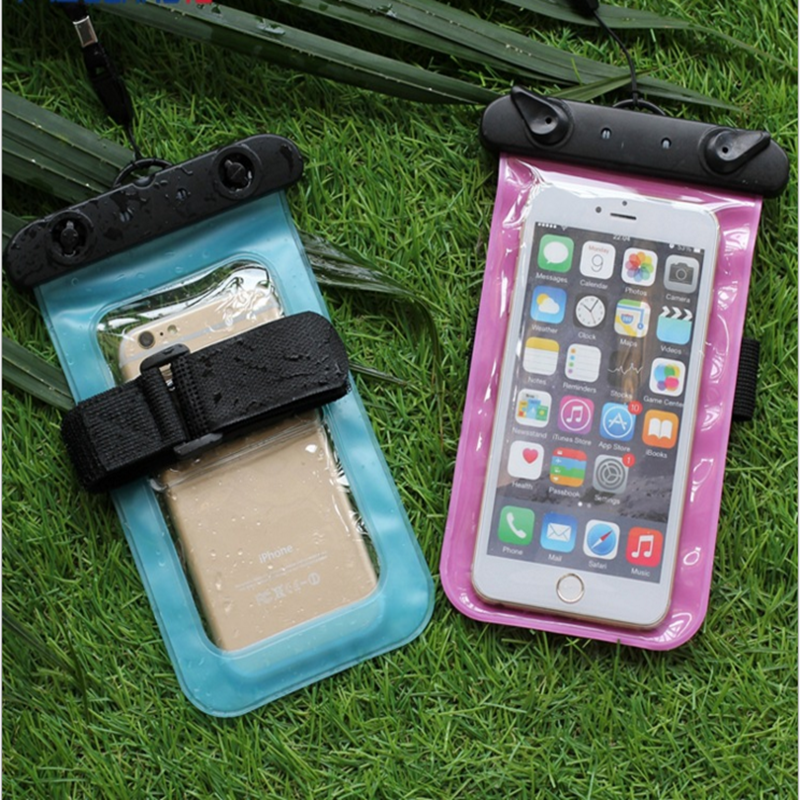 Universal Waterproof Phone Case Multifunction CellPhone Dry Pouch With Armband Feature & Neck Strap For All Mobile Phones