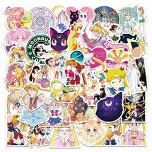 10/50/pz nuovo adesivo Anime Sailor Moon acqua ghiaccio luna adesivi moto Skate chitarra valigia PVC impermeabile decalcomania giocattoli