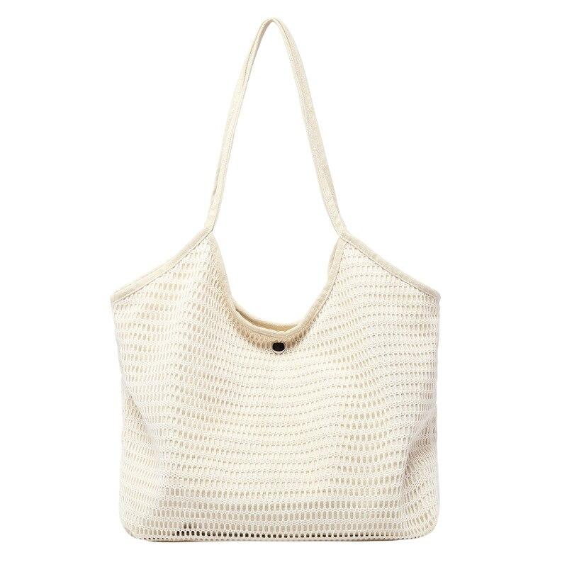 Nouveau sac fourre-tout de plage pour femmes sac à provisions stockage sacs d'épicerie réutilisables fourre-tout toile Net tissu sac