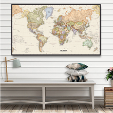 The World Map 150x100cm Non-woven Canvas Painting Vintage Wall Art Poster Living Room Home Decoration School Supplies