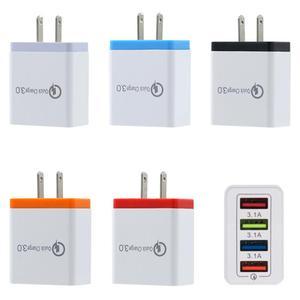 4USB зарядное устройство для мобильного телефона 5V3A многопортовое зарядное устройство для путешествий интеллектуальная зарядка штепсельная вилка Быстрая зарядка мобильное настенное зарядное устройство для телефона