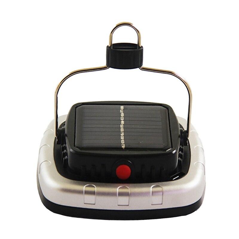 Nuevas lámparas solares Cob Led tienda de campaña Lámpara Usb linterna recargable batería tienda luz negro Reflector LED de carga USB Luz de trabajo reflector recargable 2*18650 o 4 * AA batería al aire libre reflector para Camping emergencia