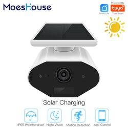 Cámara inteligente Tuya, cámara Solar para exteriores, cámara de red HD 1080P, Audio bidireccional con cableado IP65