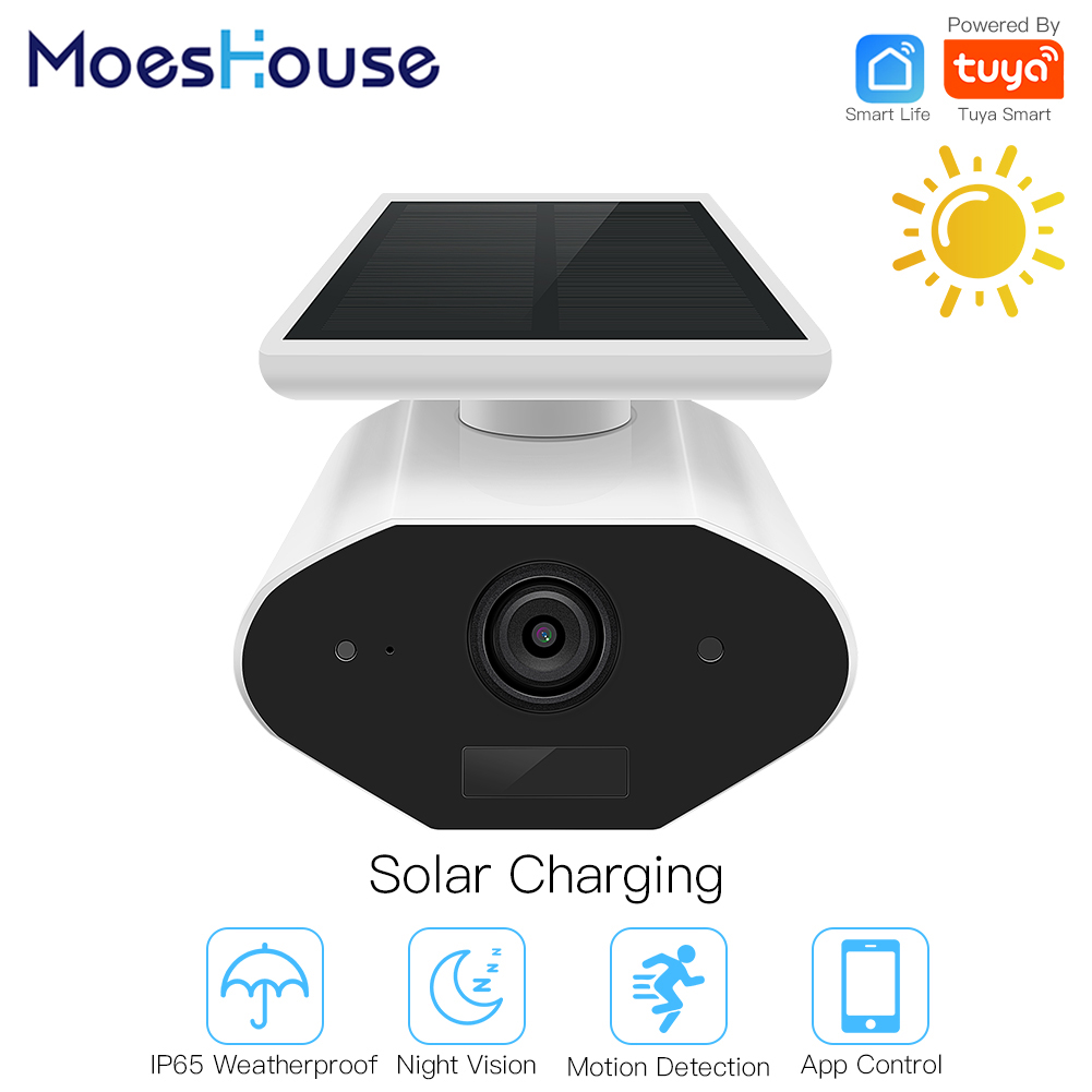 Tuya Smart Camera Outdoor Solar Camera HD 1080P Network Two-way Audio IP65 Wiring Free