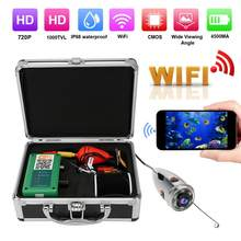 720P WiFi 6LED IP68 Underwater Video Camera 49.2ft Cable for Fishing Diving 100-240V(China)