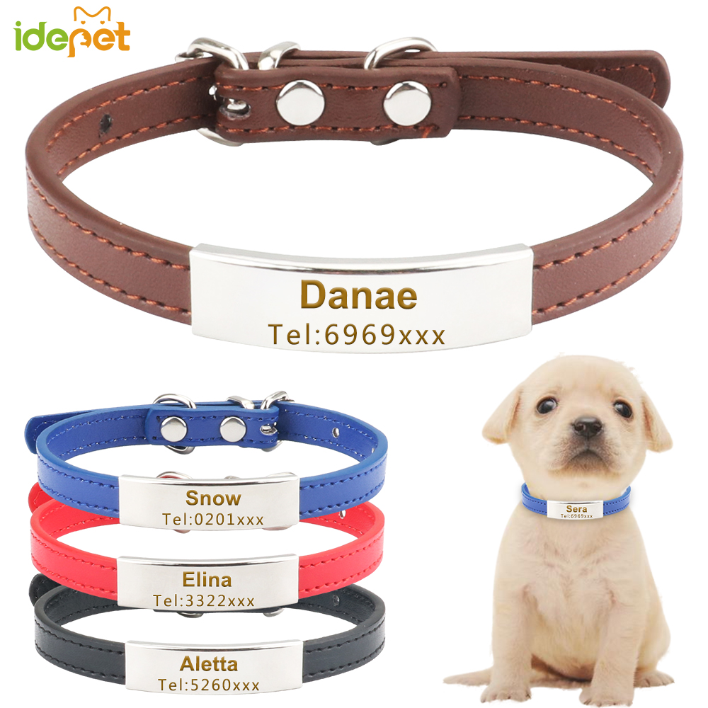 Personalized Dog Cat Collar Free Engraving Name Cat Collars for Puppy Small Dogs Kitten Adjustable Nameplate Collar Pet Supply35 image