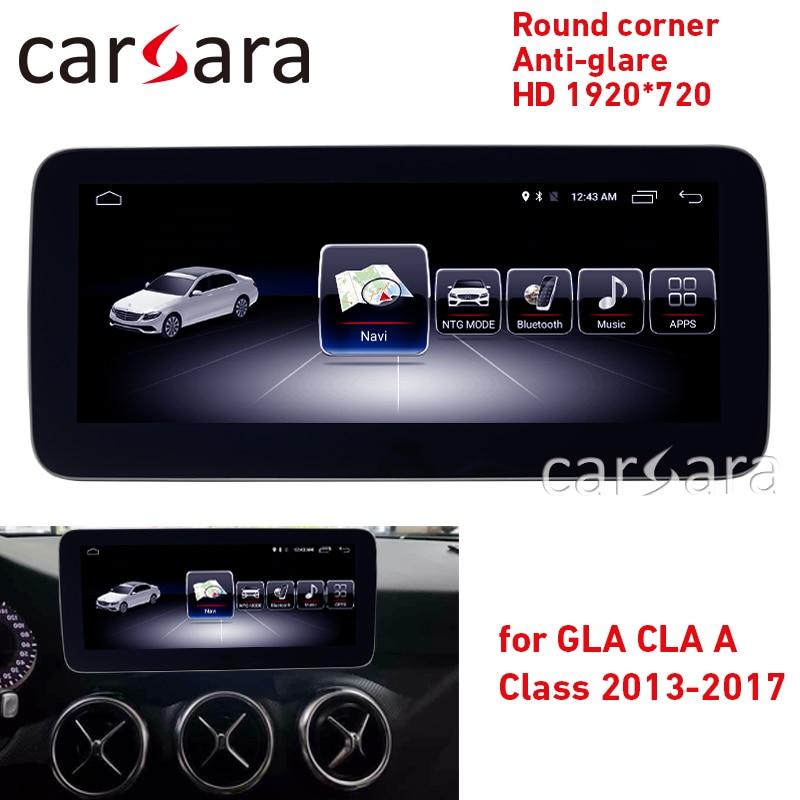 Android radio A w176 écran tactile CLA w117 GPS navi GLA X156 coin rond anti-éblouissement HD 1920*720 affichage lecteur multimédia de tableau de bord