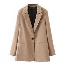 Women Fashion Long Sleeve Coat Elegant Turn-Down Collar Pocket Blazer suit coat fashion streetwear loose outerwear tops Y830