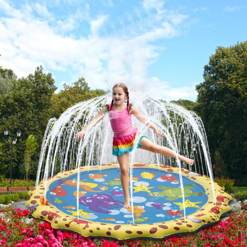 Children Outdoor Activities Inflatable Water Games Beach Mat Lawn Inflatable Sprinkler Cushion Toys Cushion Gift Fun For Kids