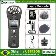 ZOOM H1N – Microphone stéréo d'interview vidéo DSLR, enregistreur pratique Original avec carte de 16 go, Microphone Lavalier