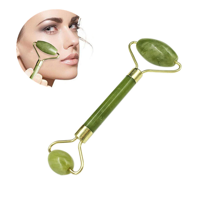 Double Heads Jade Stone Facial Massage Roller Face Lift Body Skin Relaxation Beauty Slimming Tools For Face Skin Care