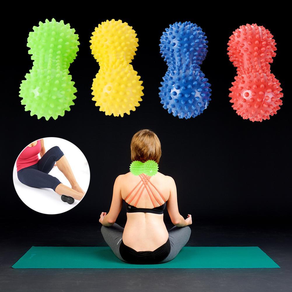 1pc PVC Erdnuss Massage Ball Igel Spiky-Ball Fitness Körper Massage Yoga Übung Entspannen Werkzeug Muscle Körper Entspannende Massager