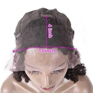 Image 5 - Lijmloze Lace Front Menselijk Haar Pruiken Pre Geplukt Remy 13x4 Yaki Menselijk Haar Pruiken Voor Zwarte Vrouwen Indian kinky Rechte Pruik