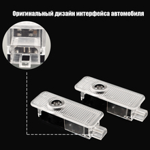 2Pcs Car LED Door Light For Mini Cooper JCW R57 One S R50 R53 R56 R60 F55 F56 R58 R59 Clubman Countryman Paceman Works Projector