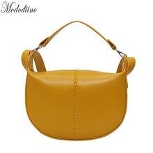 Mododiino الأصفر المرأة حقيبة خليط السرج حقيبة كوريا Crossbody حقيبة عالية الجودة حقيبة كتف جلدية PU السيدات حقيبة DNV1273