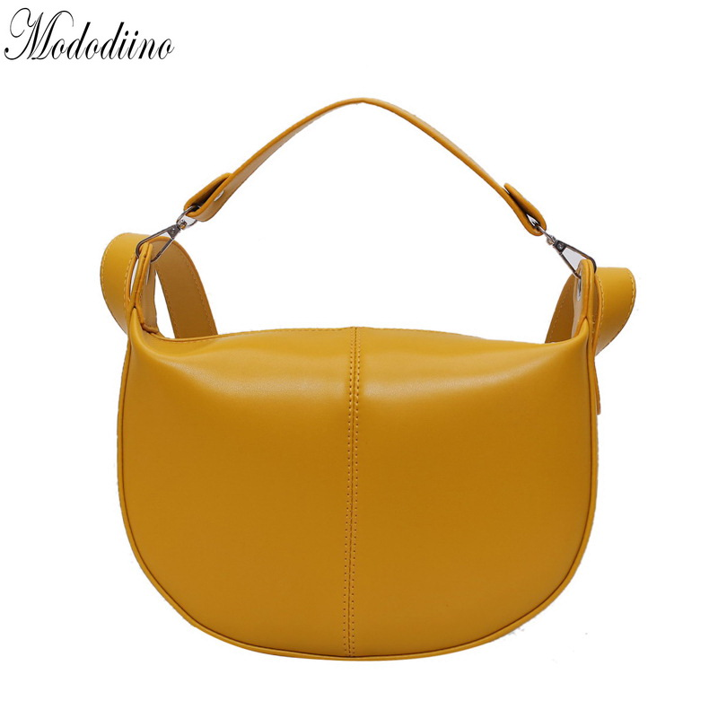 Mododiino Yellow Handbag Women Patchwork Saddle Bag Korea Crossbody Bag High Quality PU Leather Shoulder Bag Ladies Bag DNV1273