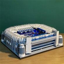 Juguetes de bloques de construcción de campo de fútbol, Nuevo Estadio de España, Madrid, Bernabeu, 1:600, Compatible con 10272