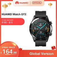 In Lager Globale Version HUAWEI Uhr GT 2 GT2 GPS 14 Tage Arbeiten Wasserdichte Telefon Intelligente Call Herz Rate Tracker für Android iOS