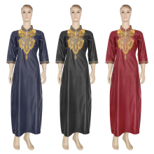 MD Embroidered Flower African Dresses For Women 2020 Bazin Riche South African Clothes Ladies Dresses Ankara Dashiki Robe Boubou