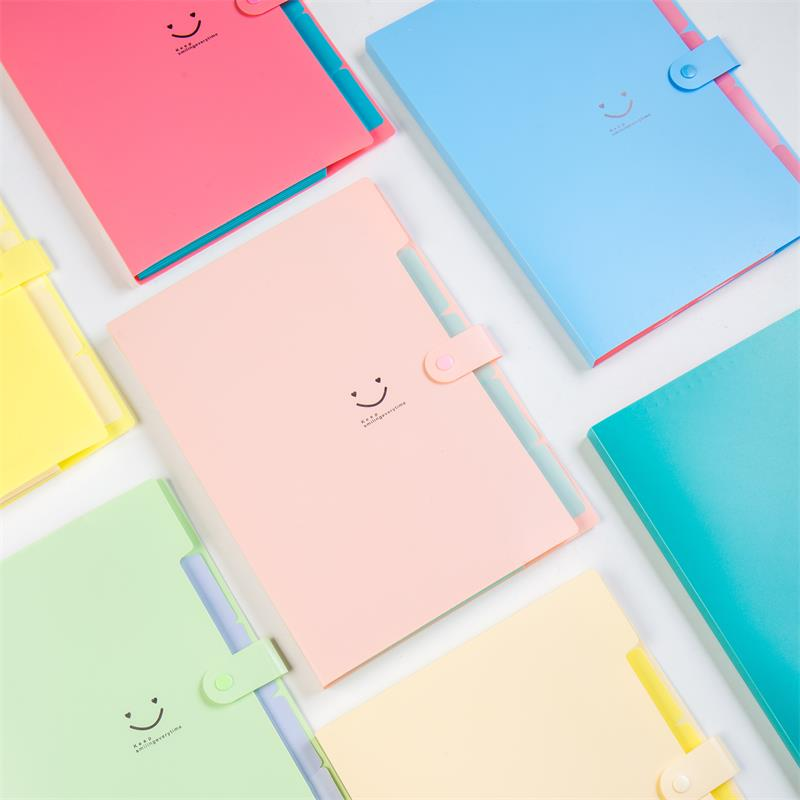 10 Color For Office Supplies And School Mangy Occasions Stationery File Folder Documents Folder 4 Layers  A4 Document Bag