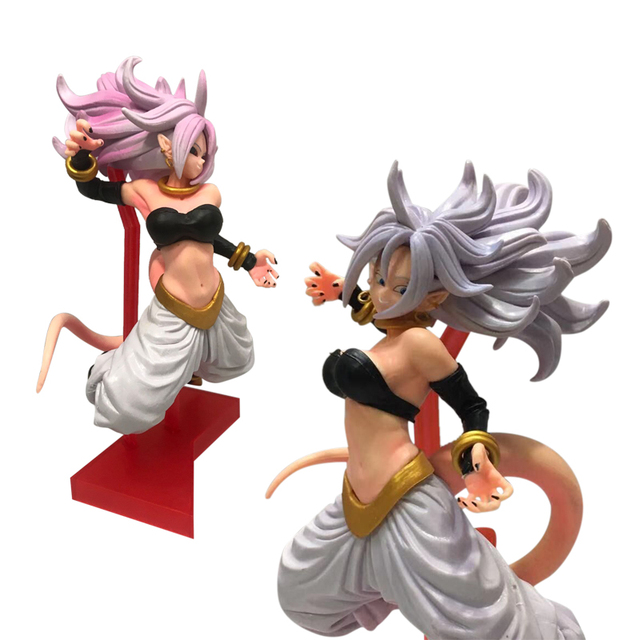 アニメドラゴンボール Z 21.5 センチメートル日本アニメフィギュア女性ブウ Android 21 号アクションフィギュアコレクタブルモデルのおもちゃ男の子