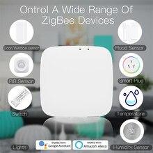Tuya zigbee inteligente gateway hub smarthome ponte vida inteligente app controle remoto sem fio funciona com alexa casa do google