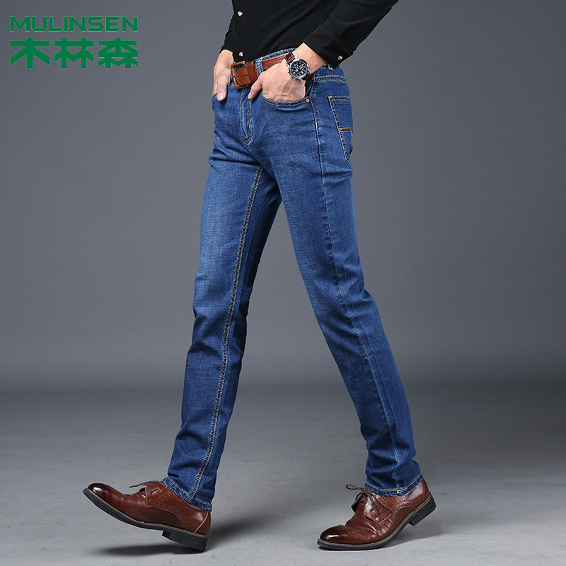 MULINSEN Jeans Men's 2019 New Products Spring And Autumn Business Casual Men Slim Fit Brand Cowboy Trousers