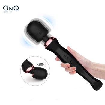 OnQ Leistungsstarke Klitoris Vibratoren USB Aufladen Zauberstab AV Vibrator Massager Sexuelle Wellness Erotische Sex Spielzeug für Frauen Erwachsene Spielzeug 1