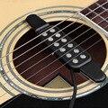 TSAI 12 Buraco Clip On Som Transdutor Captador Microfone Fio Amplifier Speaker Para Acústico Da Guitarra Elétrica Acessórios de Guitarra