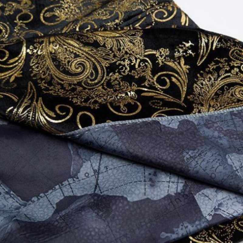 זהב בלייזר גברים פרחוני מקרית Slim טרייל 2020 חדש הגעה אופנה מסיבת יחיד חזה גברים חליפת מעיל זכר טרייל בתוספת גודל