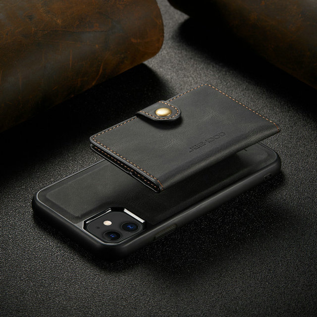 Suitable for IPhone 12 Multi Card Wallet  Magnetic Mobile Phone Case  4