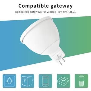 Image 4 - Smart Home ZigBee Voice Control RGBW 4W MR16 Birne DC12V LED RGBCCT Scheinwerfer Farbe und Weiß Smart LED Arbeit mit Echo Plus Hub