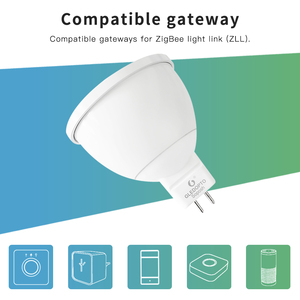 Image 4 - Smart Home ZigBee Voice Control RGBW 4W MR16 Bulb DC12V LED RGBCCT Spotlight Color and White Smart LED Work with Echo Plus Hub