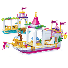 City Friends Series 510PCS Allice Princess Dream Fantasy Boat  Building Blocks for Children Legoingly
