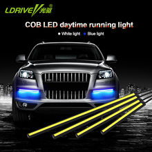 Car Styling High Quality 2Pcs/Lot Flip Chips LED Daytime Running Light External DRL Lights Source Auto Fog lamp