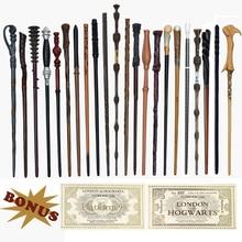 28 видов металлических сердечников гончарные волшебные палочки для косплея Волдеморт Гермиона волшебная палочка харрид хогварт билетов в качестве бонуса без коробки