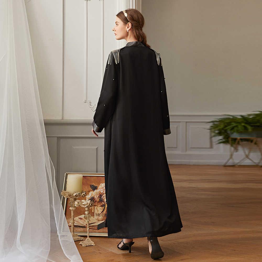 Abaya 터키 기모노 Mujer 카디건 Hijab 이슬람 패션 드레스 Kaftan 두바이 Caftan 이슬람 의류 Abayas 여성용 Niqab Robe